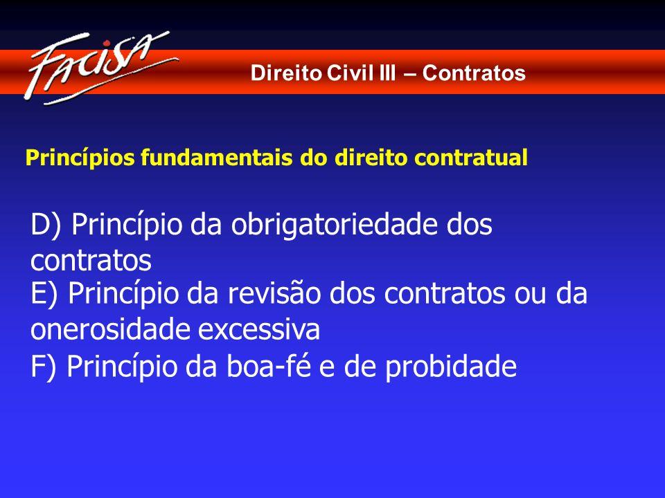 D) Princípio da obrigatoriedade dos contratos