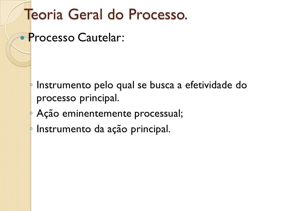 Teoria Geral do Processo.
