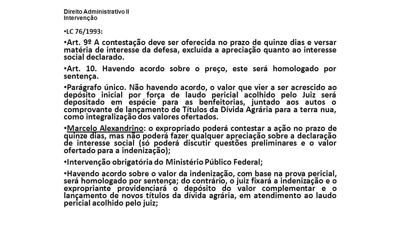 Direito Administrativo II Intervenção