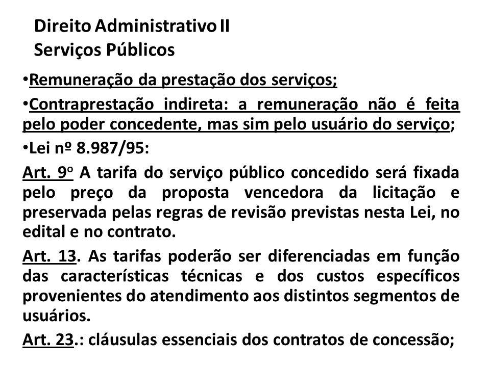 Direito Administrativo II Serviços Públicos