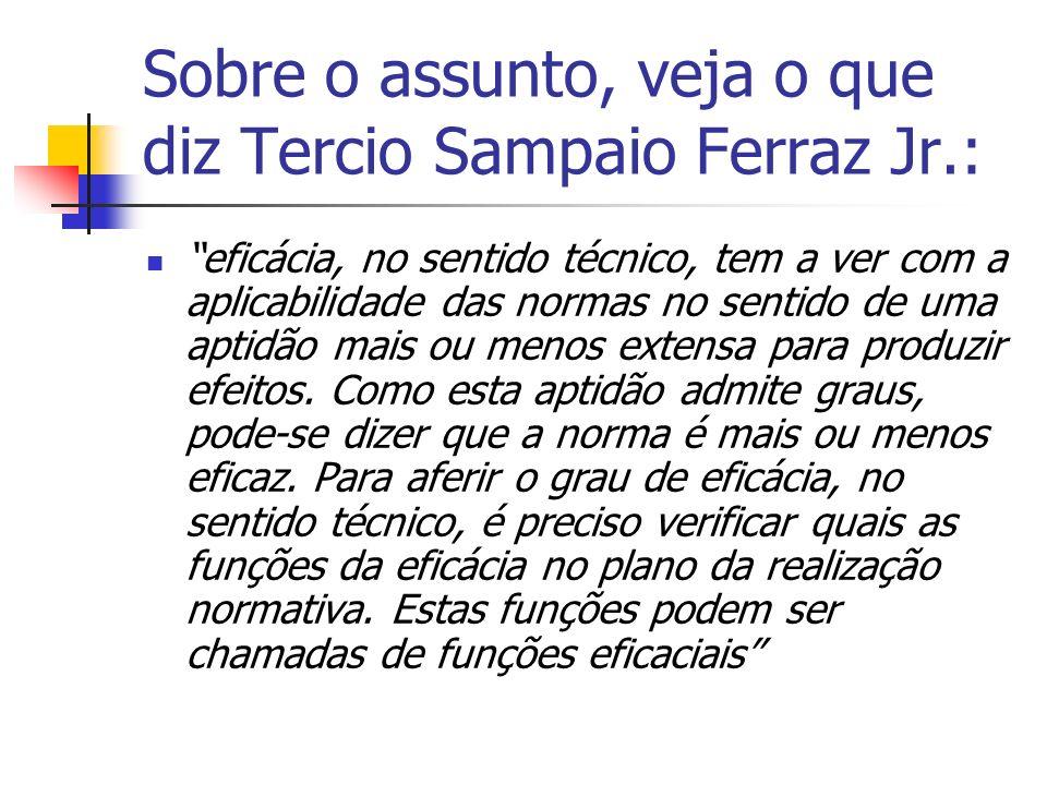 Sobre o assunto, veja o que diz Tercio Sampaio Ferraz Jr.: