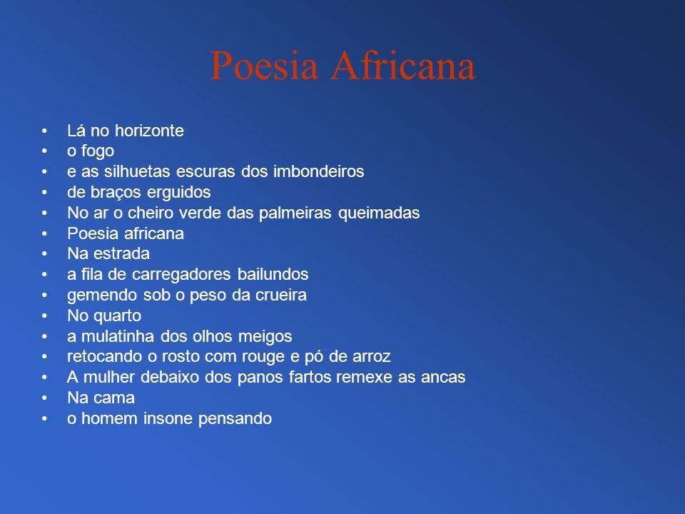 Poesia Africana Lá no horizonte o fogo
