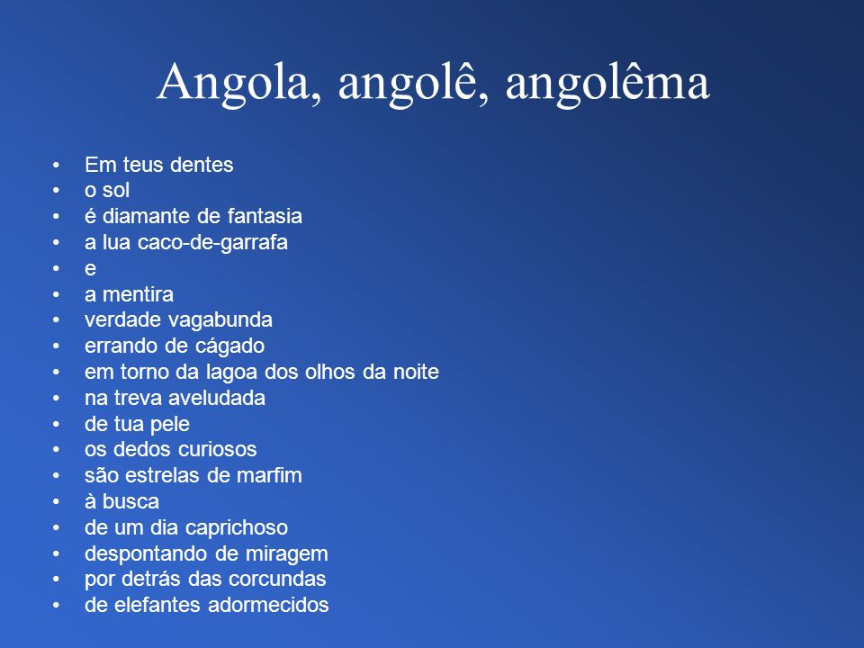 Angola, angolê, angolêma