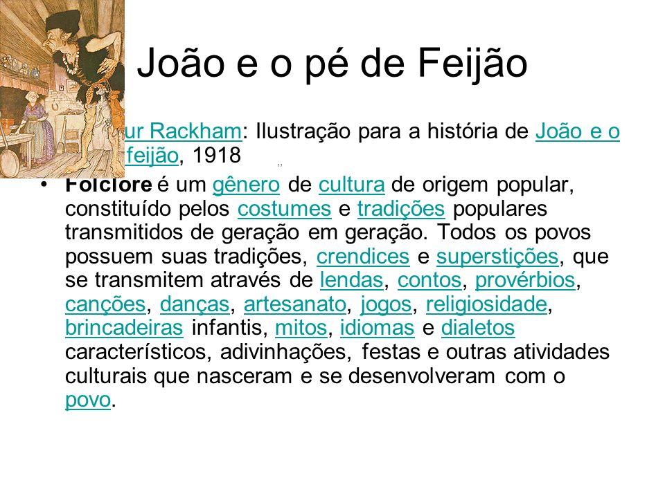 João e o pé de Feijão ,, Arthur Rackham: Ilustração para a história de João e o pé de feijão, 1918.