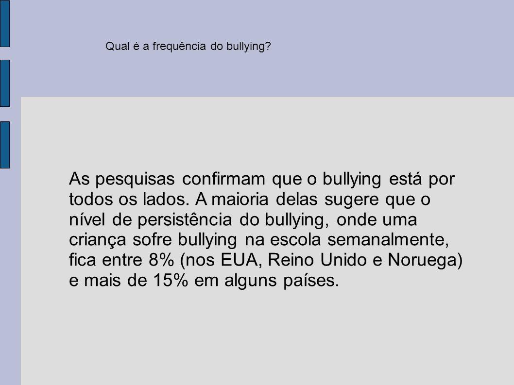 Qual é a frequência do bullying