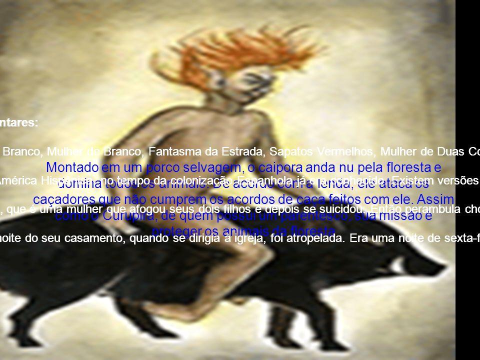 A Mulher da Meia Noite - Notas complementares: xxxx Nomes comuns: Moça de Branco, Noiva de Branco, Mulher de Branco, Fantasma da Estrada, Sapatos Vermelhos, Mulher de Duas Cores (Minas e São Paulo), Alamoa (Fernando de Noronha), La Llorona (México), Paquita Munhoz (Região dos Andes), La Sayona (Venezuela), etc. xxxx Origem Provável: É um Mito universal. Na América Hispânica, no tempo da colonização Espanhola já era conhecido. Existem versões semelhantes, Na América do Norte e Europa. Em São Paulo e Minas, há relatos que mencionam uma aparição que veste sempre roupas de duas cores. Branco com Preto, Vermelho com Azul, Azul com Amarelo, etc. Em Fernando de Noronha é uma Loura que, depois de atrair suas vítimas, diante delas, se transforma em um horrível esqueleto. xxxx No México há uma versão local, La Llorona, que é uma mulher que afogou seus dois filhos e depois se suicidou. Então perambula chorando, ora pelas beiras de rios em busca deles, ora pelas estradas pedindo carona com um bebê no colo. Quando entra no carro, dá para ver que é uma assombração com o seu rosto de caveira. xxxx Para muitos trata-se de uma noiva, que na noite do seu casamento, quando se dirigia à igreja, foi atropelada. Era uma noite de sexta-feira. Então nas noites de sexta, ela volta à estrada vestida de noiva e pedindo carona. Já dentro da cabine do carro, ela se dissolve, vezes como cera derretida, vezes como fumaça.