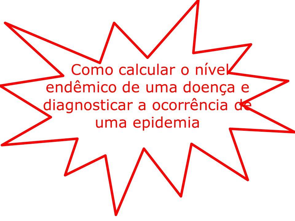 Como calcular o nível endêmico de uma doença e diagnosticar a ocorrência de uma epidemia
