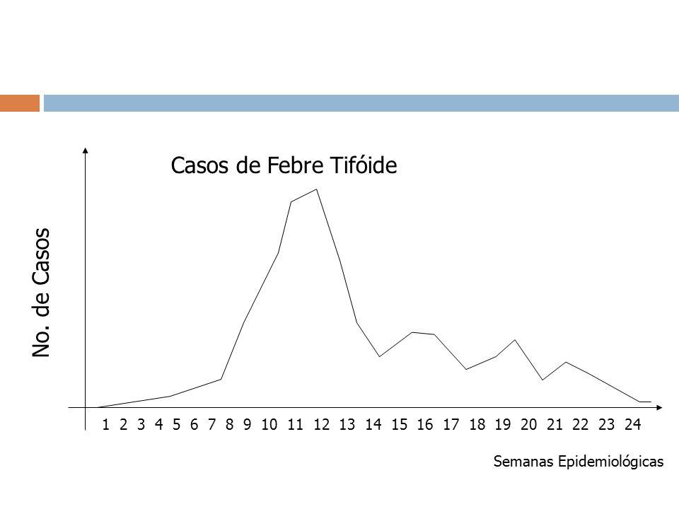 Casos de Febre Tifóide No. de Casos