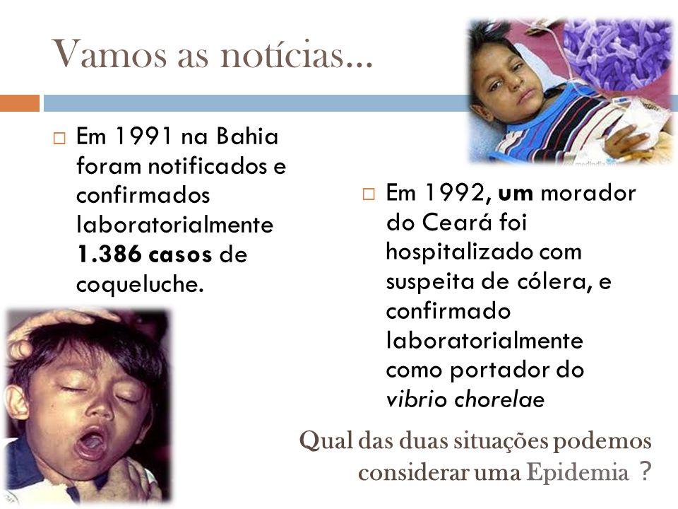 Vamos as notícias... Em 1991 na Bahia foram notificados e confirmados laboratorialmente 1.386 casos de coqueluche.