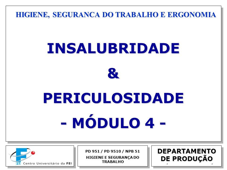 INSALUBRIDADE & PERICULOSIDADE - MÓDULO 4 -