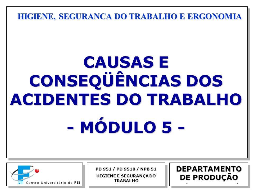 CAUSAS E CONSEQÜÊNCIAS DOS ACIDENTES DO TRABALHO - MÓDULO 5 -