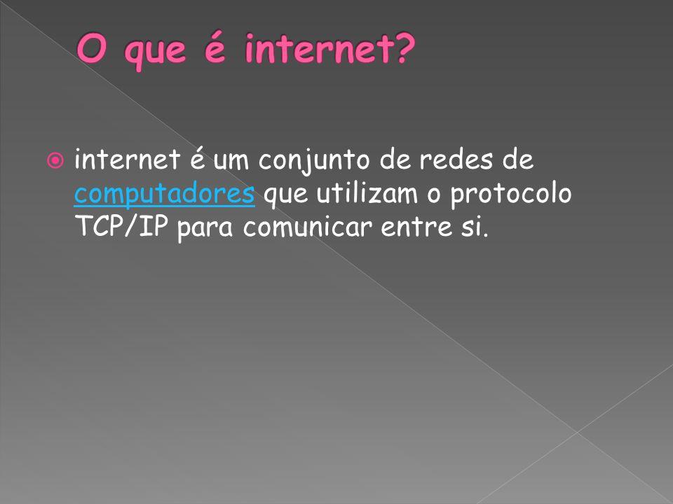 O que é internet.