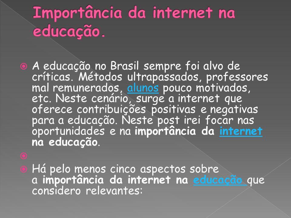 Importância da internet na educação.