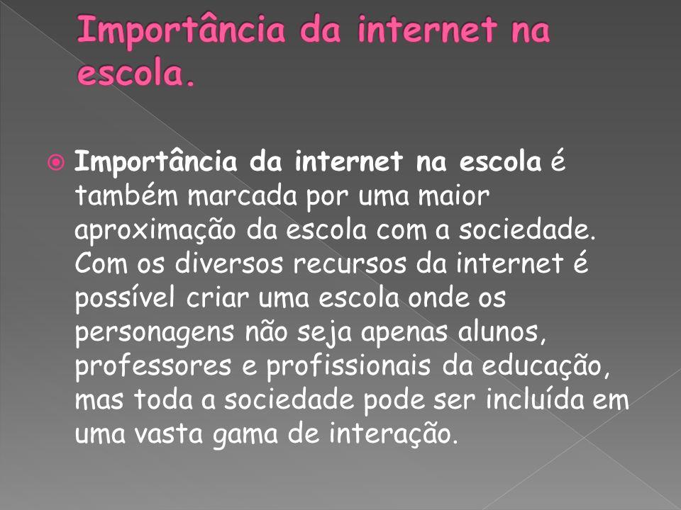Importância da internet na escola.