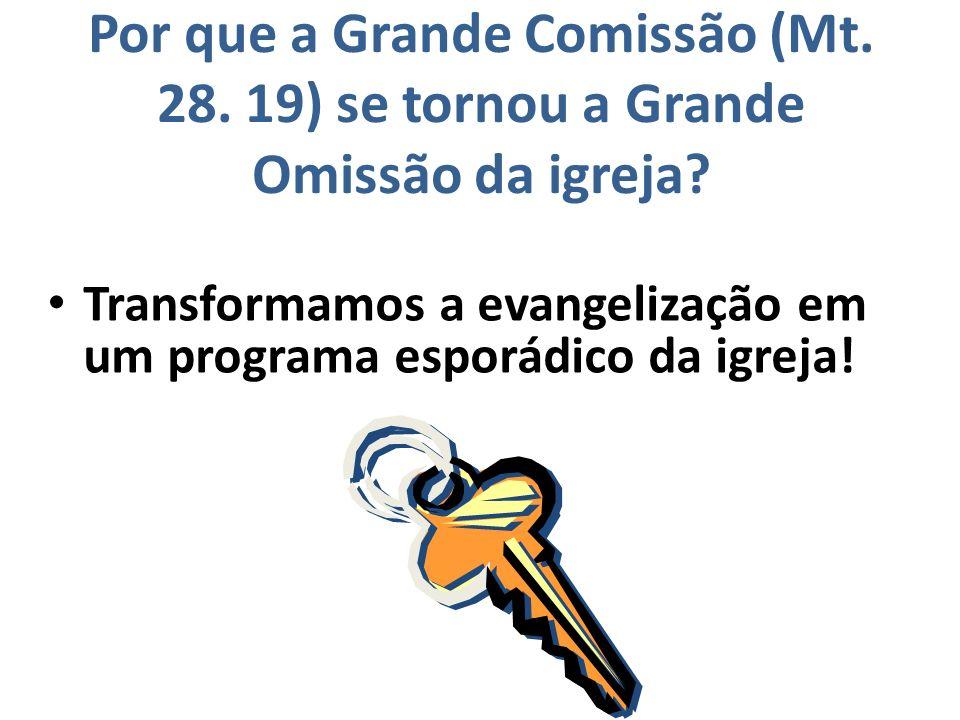 Por que a Grande Comissão (Mt. 28