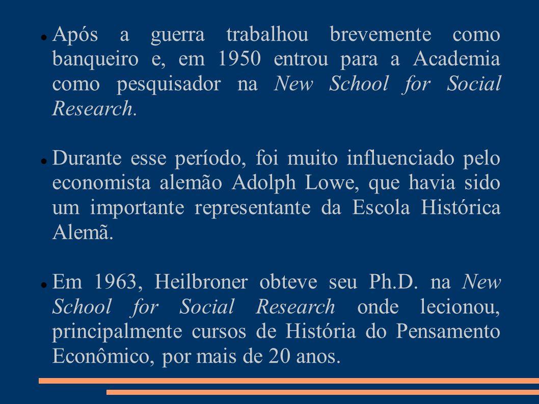 Após a guerra trabalhou brevemente como banqueiro e, em 1950 entrou para a Academia como pesquisador na New School for Social Research.