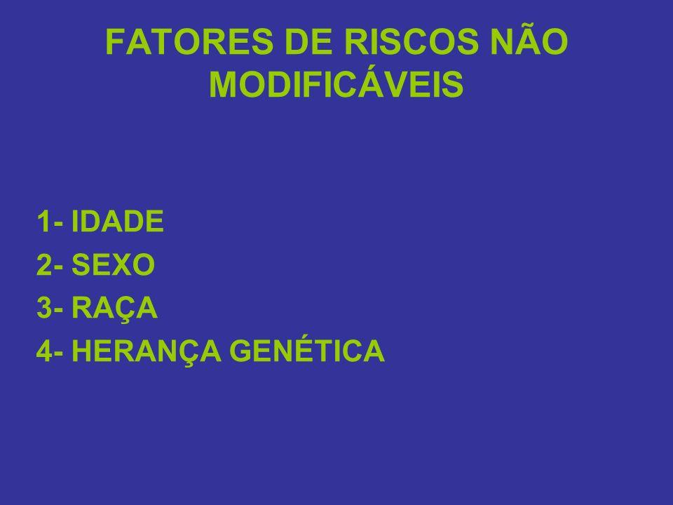 FATORES DE RISCOS NÃO MODIFICÁVEIS