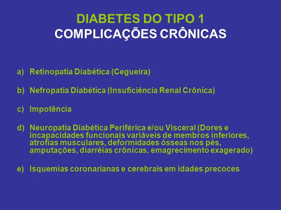 DIABETES DO TIPO 1 COMPLICAÇÕES CRÔNICAS