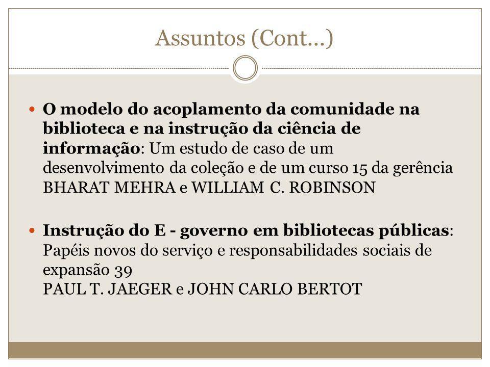 Assuntos (Cont...)