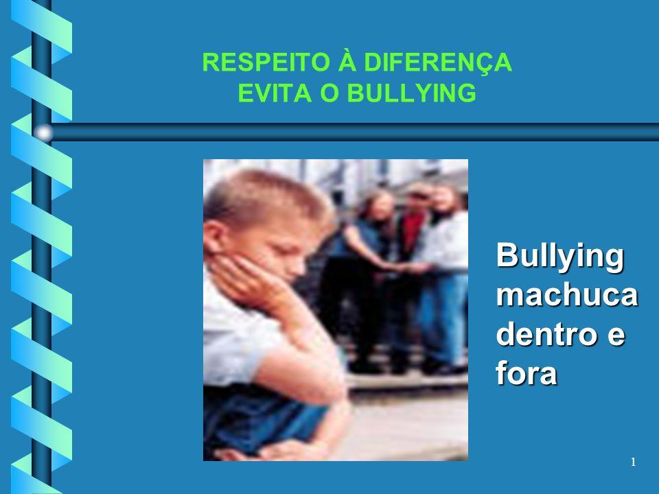 RESPEITO À DIFERENÇA EVITA O BULLYING