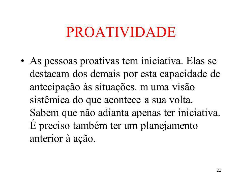 PROATIVIDADE