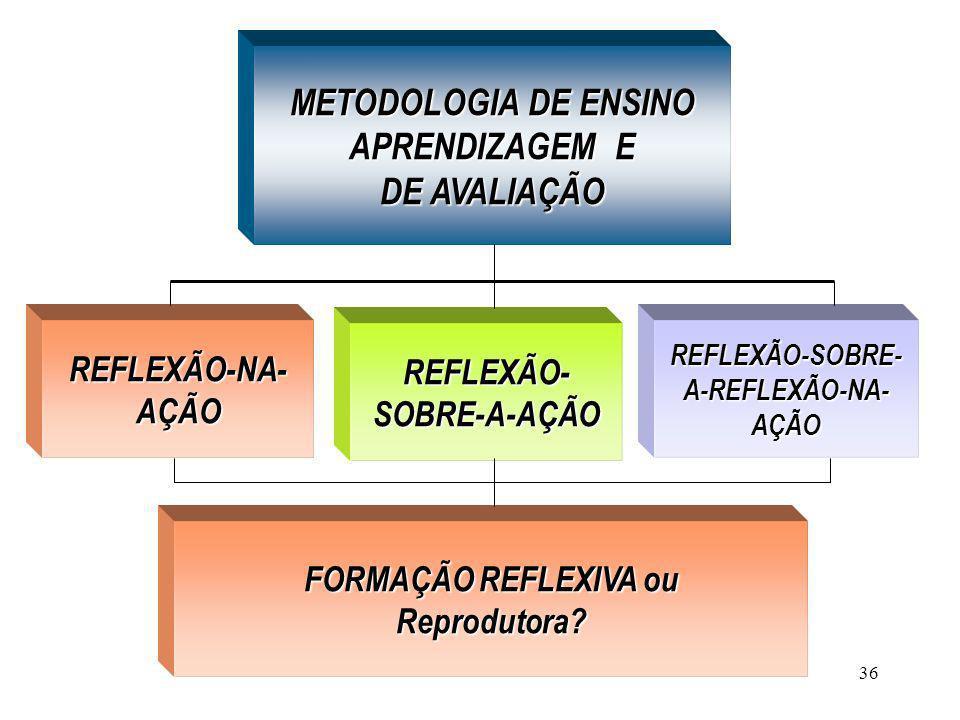 REFLEXÃO- SOBRE-A-AÇÃO REFLEXÃO-SOBRE- A-REFLEXÃO-NA- AÇÃO
