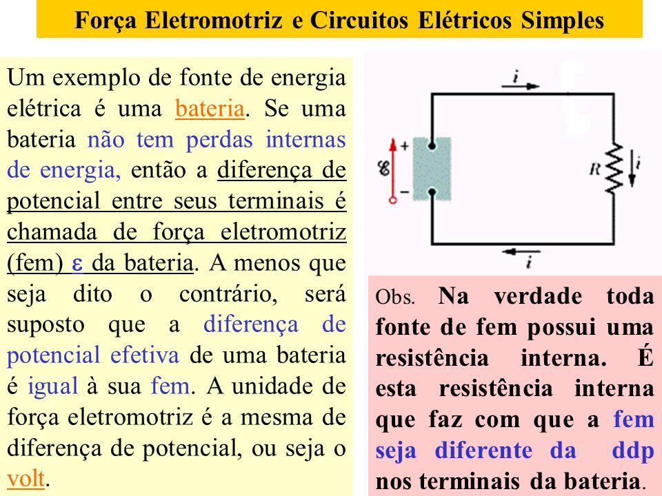 Força Eletromotriz e Circuitos Elétricos Simples