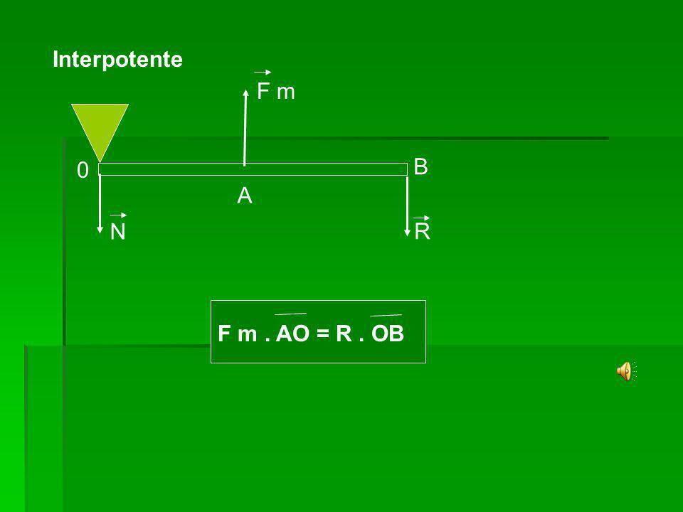 Interpotente F m B A N R F m . AO = R . OB