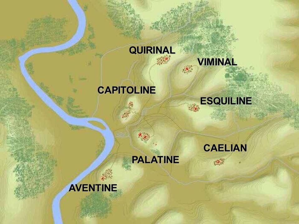 QUIRINAL VIMINAL CAPITOLINE ESQUILINE CAELIAN PALATINE AVENTINE