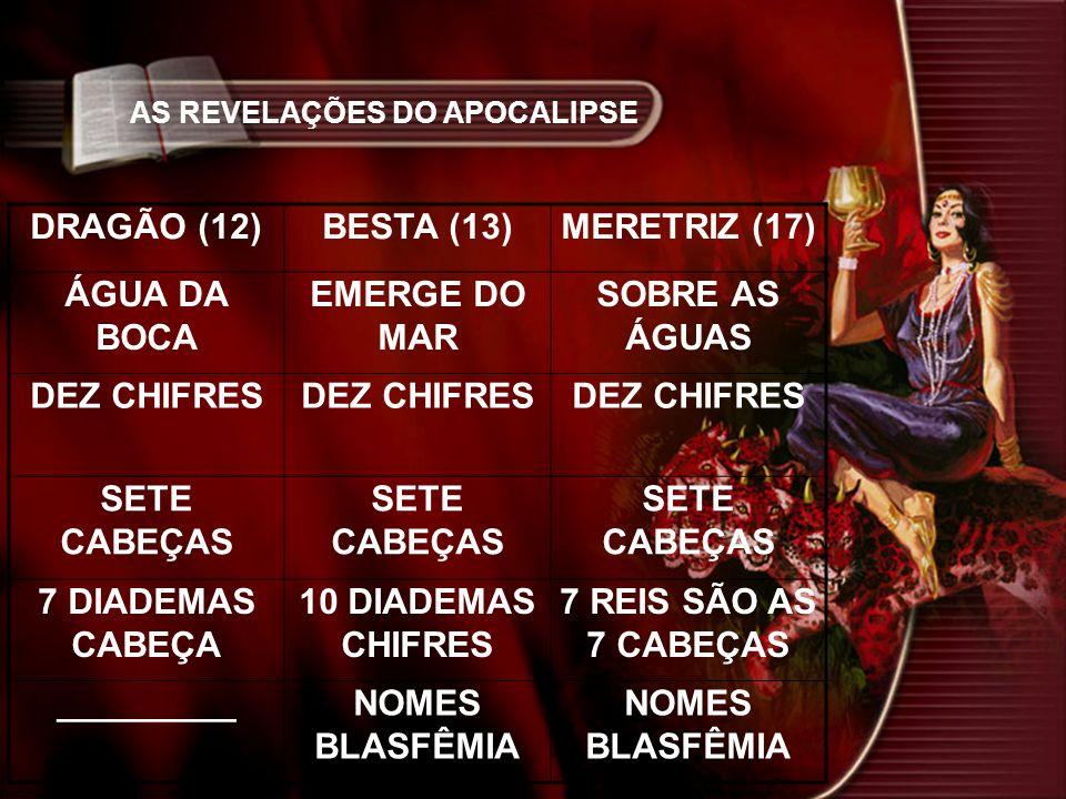 DRAGÃO (12) BESTA (13) MERETRIZ (17) ÁGUA DA BOCA EMERGE DO MAR
