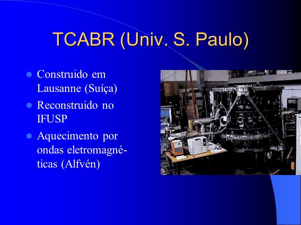 TCABR (Univ. S. Paulo) Construido em Lausanne (Suíça)