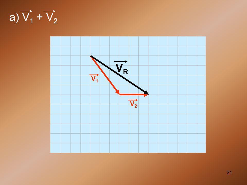 a) V1 + V2 V1 VR V2