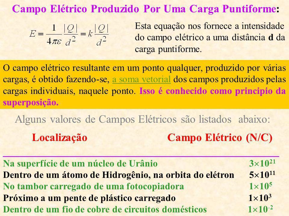 Campo Elétrico Produzido Por Uma Carga Puntiforme: