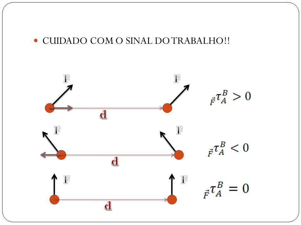 CUIDADO COM O SINAL DO TRABALHO!!