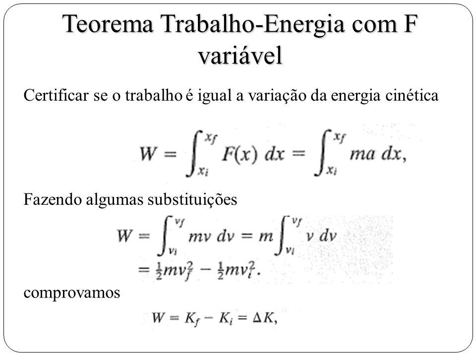 Teorema Trabalho-Energia com F variável