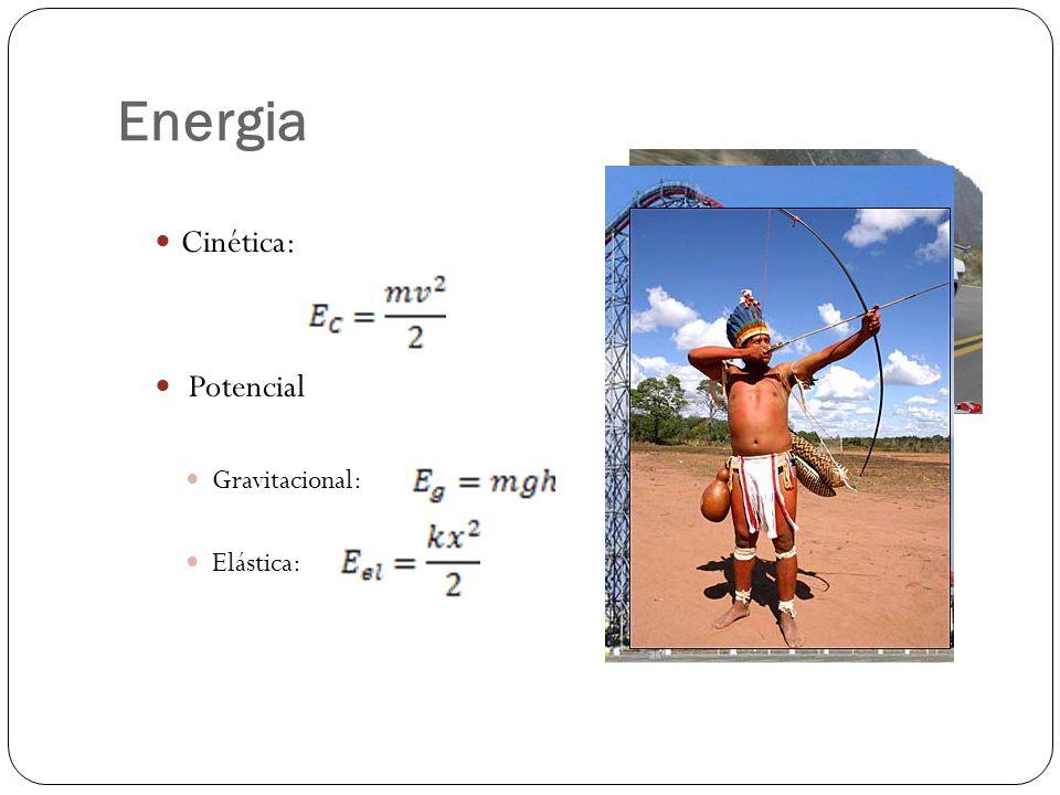 Energia Cinética: Potencial Gravitacional: Elástica: