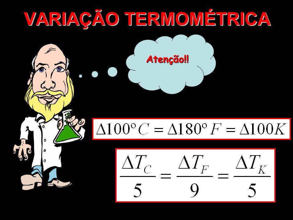 VARIAÇÃO TERMOMÉTRICA