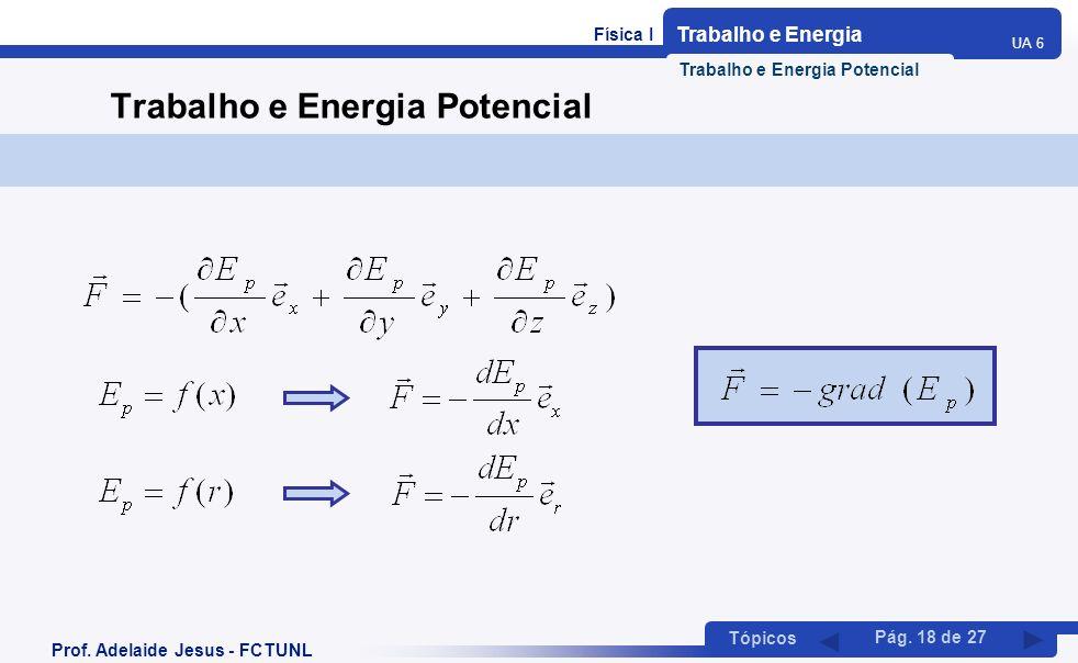 Trabalho e Energia Potencial