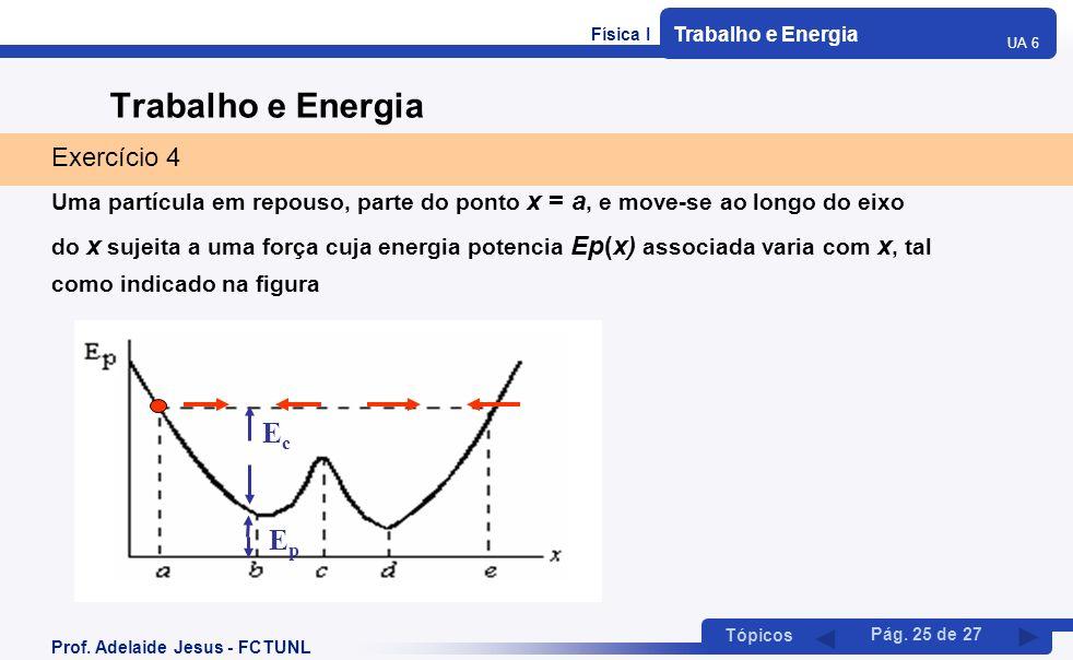 Trabalho e Energia Ec Ep Exercício 4