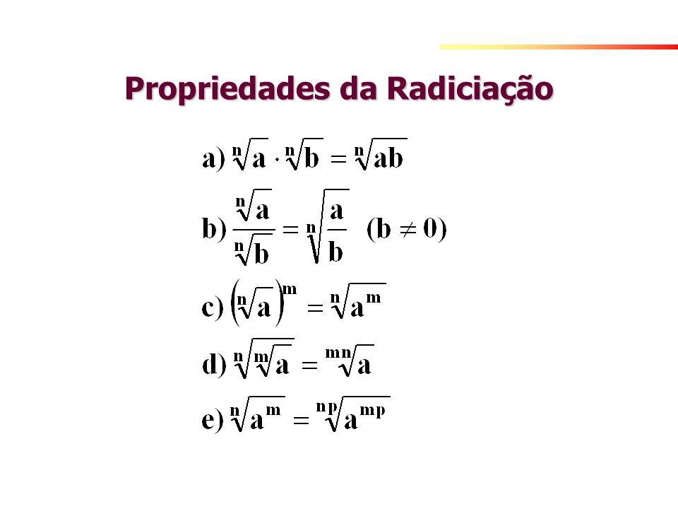 Propriedades da Radiciação
