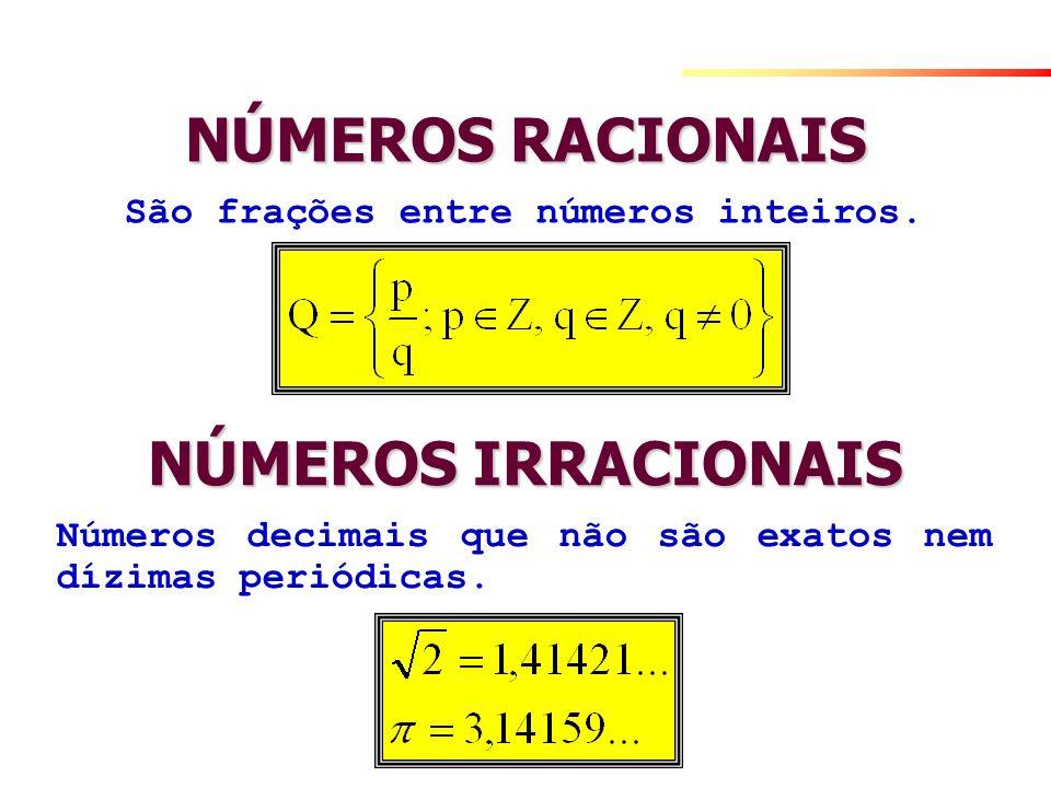 São frações entre números inteiros.