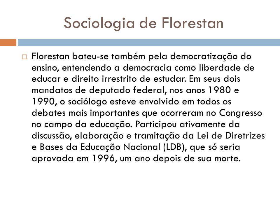 Sociologia de Florestan