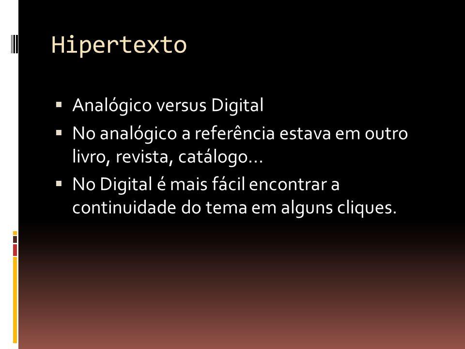 Hipertexto Analógico versus Digital