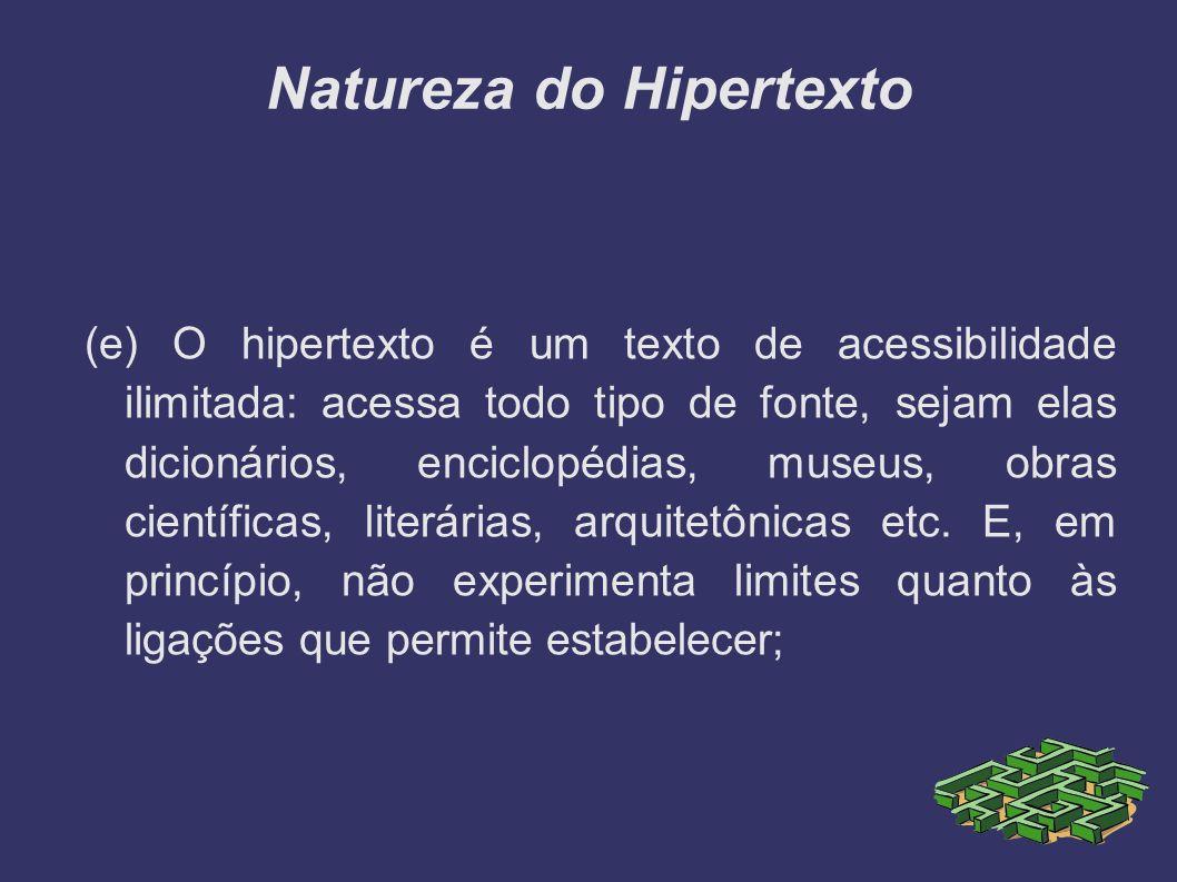 Natureza do Hipertexto