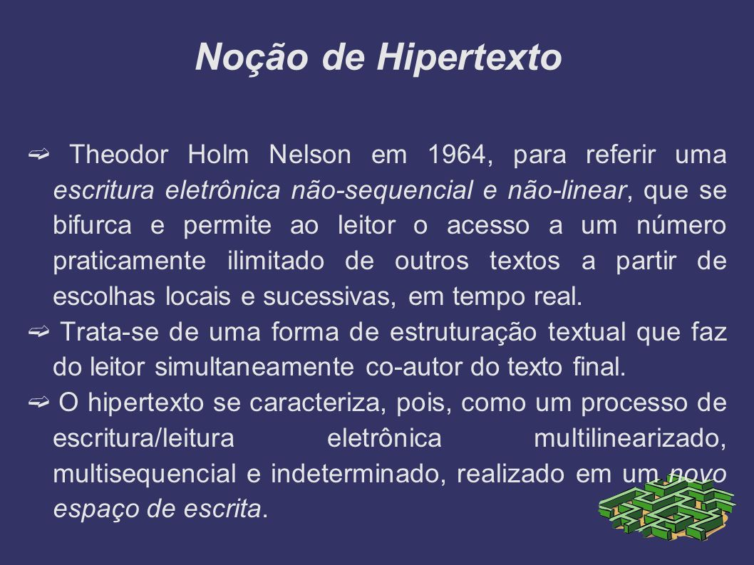 Noção de Hipertexto