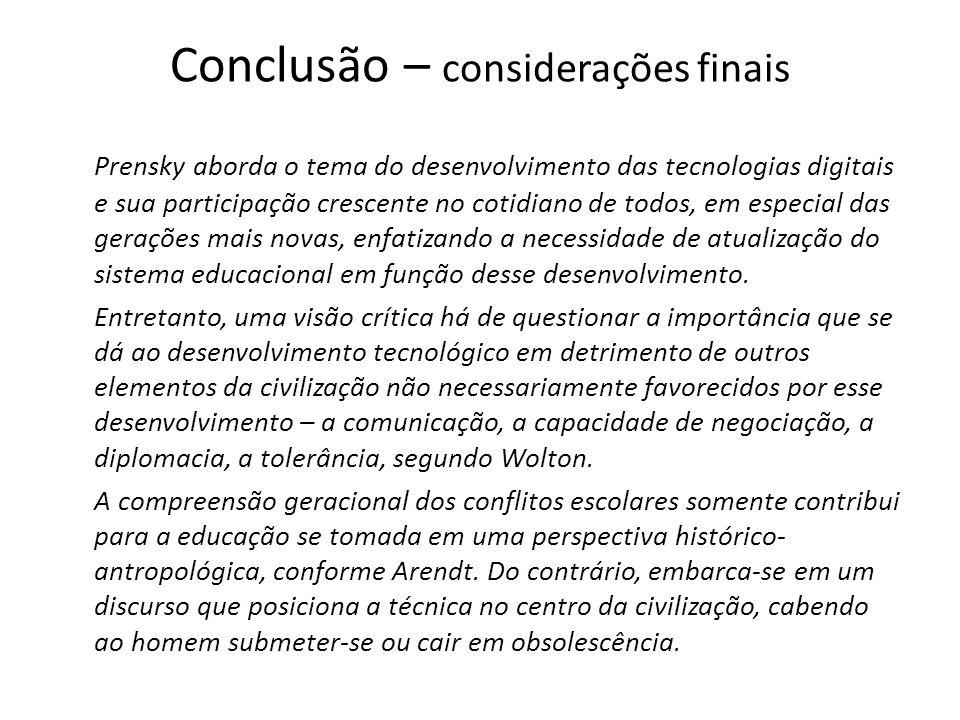 Conclusão – considerações finais