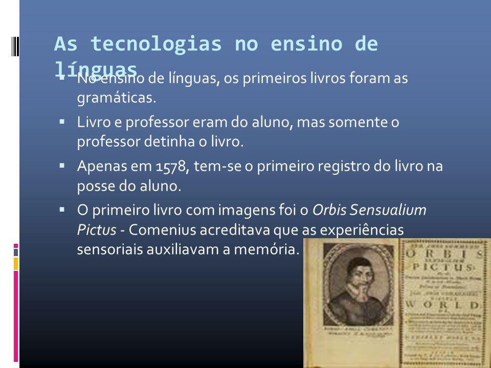 As tecnologias no ensino de línguas