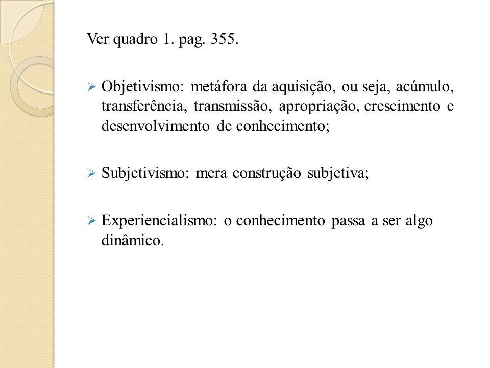 Ver quadro 1. pag. 355.
