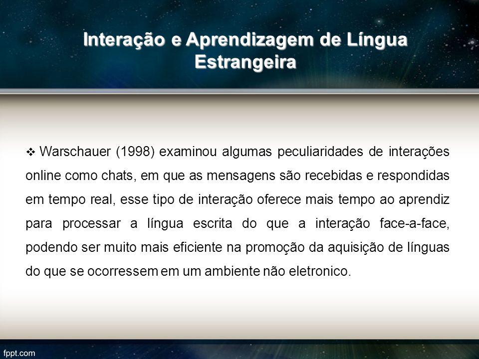 Interação e Aprendizagem de Língua Estrangeira