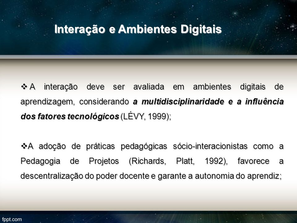 Interação e Ambientes Digitais